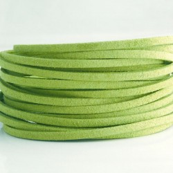 3mm Faux Suede Cord - Light Green