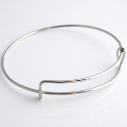 Expandable Bangle 19cm - Silver Tone