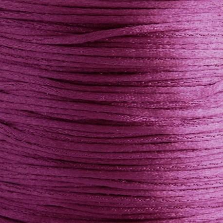 1mm Satin Cord - Dark Magenta