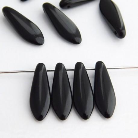 Dagger Beads 5mm x 16mm - Jet