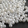 Faux Pearl Round Acrylic Beads 4mm - White
