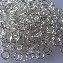 5mm Jump Rings - Silver Plated - Pack of 200