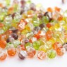 4mm Crackle Glass Beads - Autumn Colours Mix
