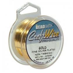 18ga (1mm) Beadsmith Nickel Free Craft Wire - Gold - 4yds
