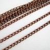 Copper Tone Curb Chain 5mm x 3mm