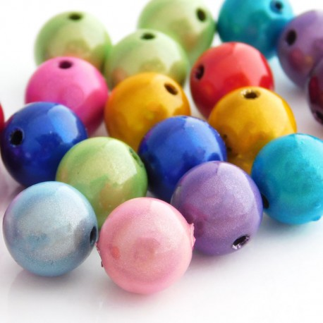 12mm Round Miracle Beads - Mixed Colours - Introductory Price!
