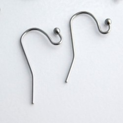 Stainless Steel 22mm Earwires - 5 Pairs