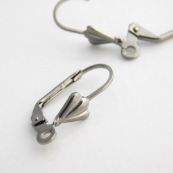 19mm Leverback Earwires - Stainless Steel