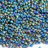 Matsuno 11/0 Seed Beads - Frosted Black AB