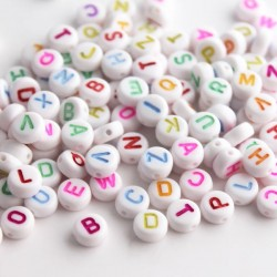 7mm Acrylic Alphabet Beads