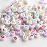 7mm Mixed Colour Acrylic Alphabet Beads