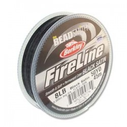 Fireline Braided Beading Thread 8lb - Black Satin
