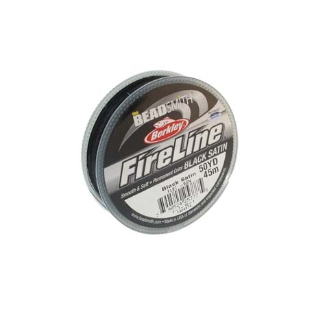 Fireline Braided Beading Thread 6lb - Black Satin