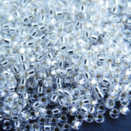 Miyuki Seed Beads 15/0 - Silver Lined Crystal (1)