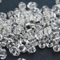 MiniDuo Two Hole Beads - Silver Lined Crystal