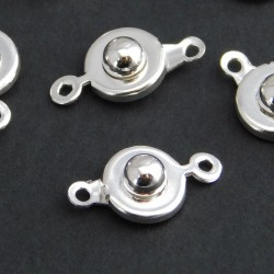 Silver Plated Ball and Socket Clasp - Pack of 1