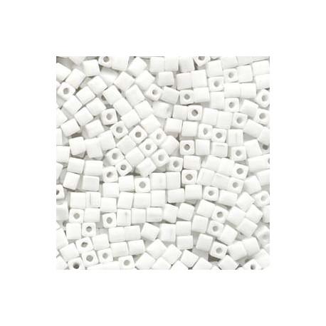 Miyuki Cube Beads 4mm - Opaque White
