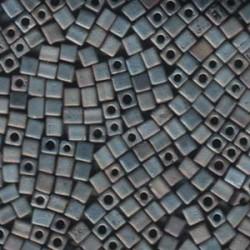 Miyuki Cube Beads 4mm - Matt Metallic Silver Grey (2002)