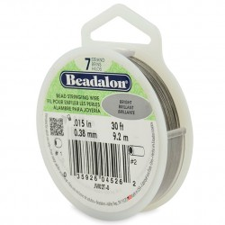 Beadalon 7 Strand 0.38mm Beading Wire Bright 9.2m