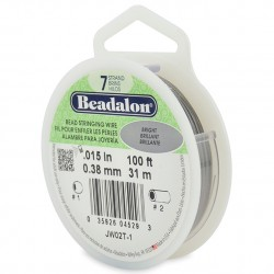 Beadalon 7 Strand 0.38mm Beading Wire Bright 31m