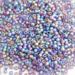 Matsuno 11/0 Seed Beads - Frosted Dark Amethyst AB