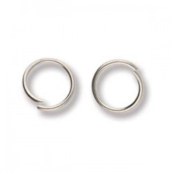 8mm Stainless Steel Jump Rings - 0.8mm - Pack of 50
