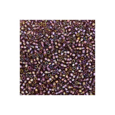 Delica 11/0 (DB2390) Miyuki Seed Beads - Fancy Lined Old Rose