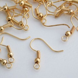 Light Gold Plated 18mm Earwires - 50 Pairs