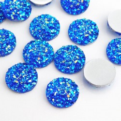 Faux Drusy Resin Cabochons Blue - 12mm
