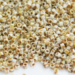 Delica 11/0 (DB2262) Miyuki Seed Beads - Opaque Yellow Picasso