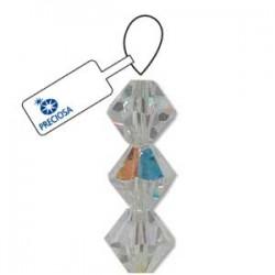Preciosa 8mm Bicone Beads - Crystal AB