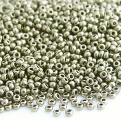 11/0 Czech Seed Beads - Metallic Chrome - 20g
