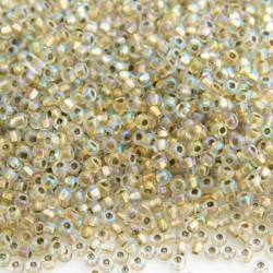11/0 Czech Seed Beads - Crystal Bronze Lined AB - 20g