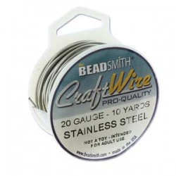 20ga Beadsmith Nickel Free Craft Wire - Stainless Steel