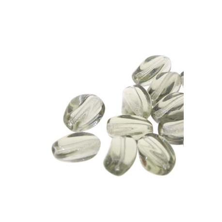 9 x 7mm Twisted Barrel Czech Glass Beads Black Diamond - Pack of 25