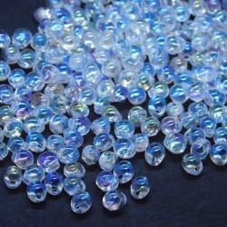 Miyuki 3.4mm Drop Beads - Crystal AB - 10g