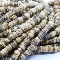 Brown Coconut Wood Beads 5.5mm - 39cm Strand