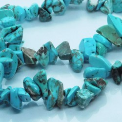 Large Howlite Chip Beads - Turquoise - 42cm strand
