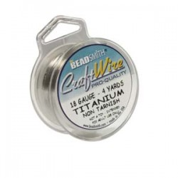 18ga Beadsmith Craft Wire - Titanium - 4yds