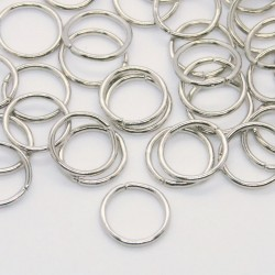 9mm Silver Tone Jump Rings - Pack of 100