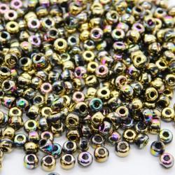 Miyuki Unions Seed Beads 8/0 - Black California Green
