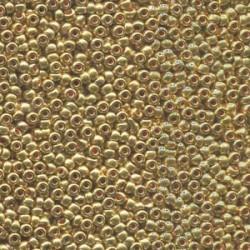 6/0 Czech Seed Beads - Metallic Gold - 20g