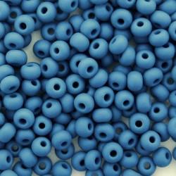 6/0 Czech Seed Beads - Opaque Denim Matt - 20g