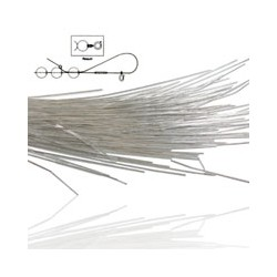 Silver Colour French Wire - Fine (0.7mm) - 35cm