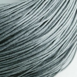 1.5mm Value Waxed Cotton Cord - Dark Grey - 5m