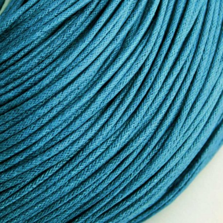 1.5mm Value Waxed Cotton Cord - Capri Blue - 5m