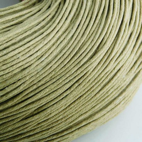 1.5mm Value Waxed Cotton Cord - Beige - 5m