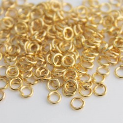 5mm Jump Rings - Gold Plated - Pack of 100
