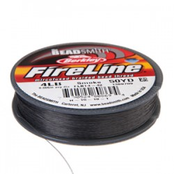 Fireline Braided Beading Thread 4lb - Smoke Grey