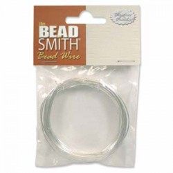 26 Gauge (0.4mm) Beadsmith Craft Wire - Silver Plated - 20m
